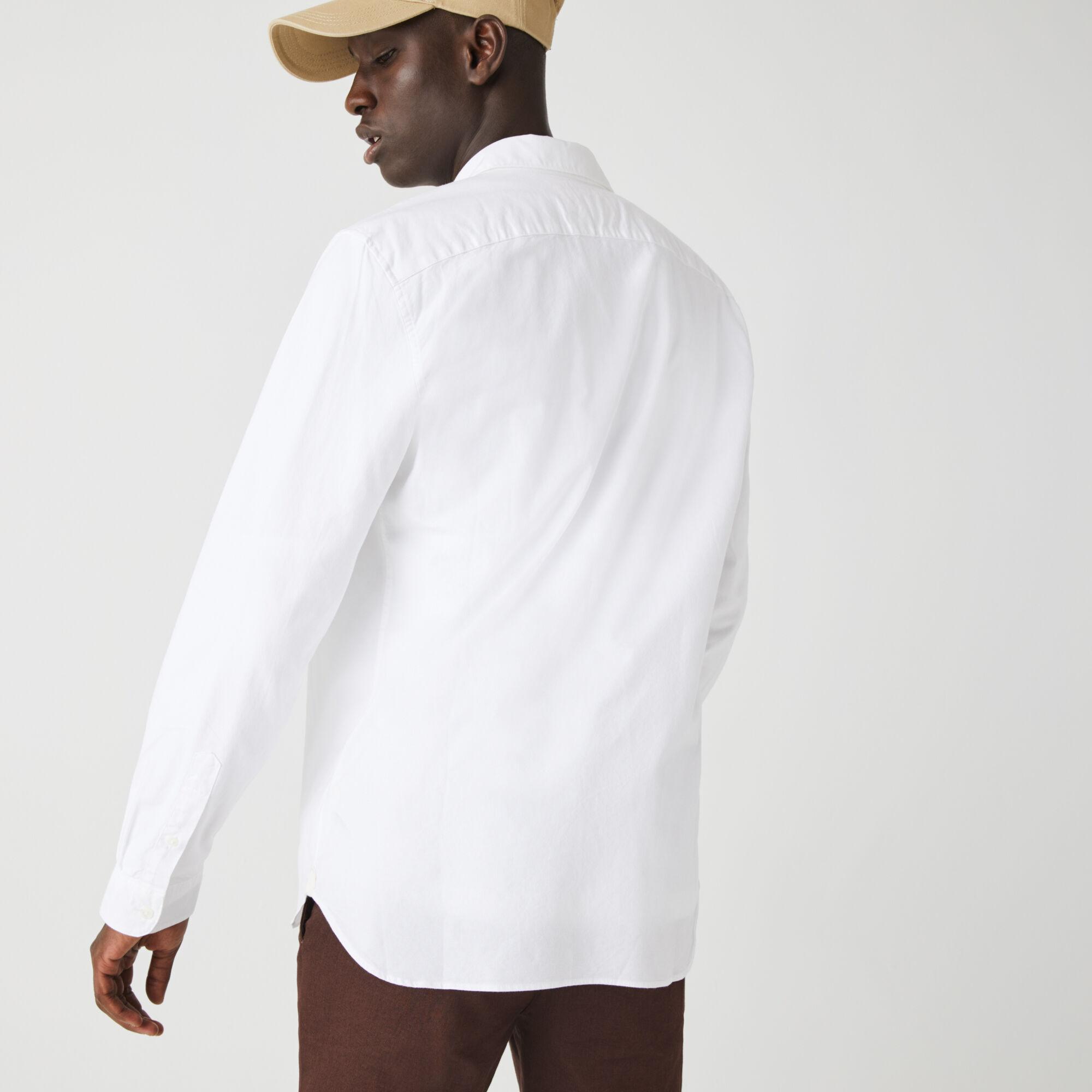 Men's Slim Fit Stretch Oxford Cotton Shirt