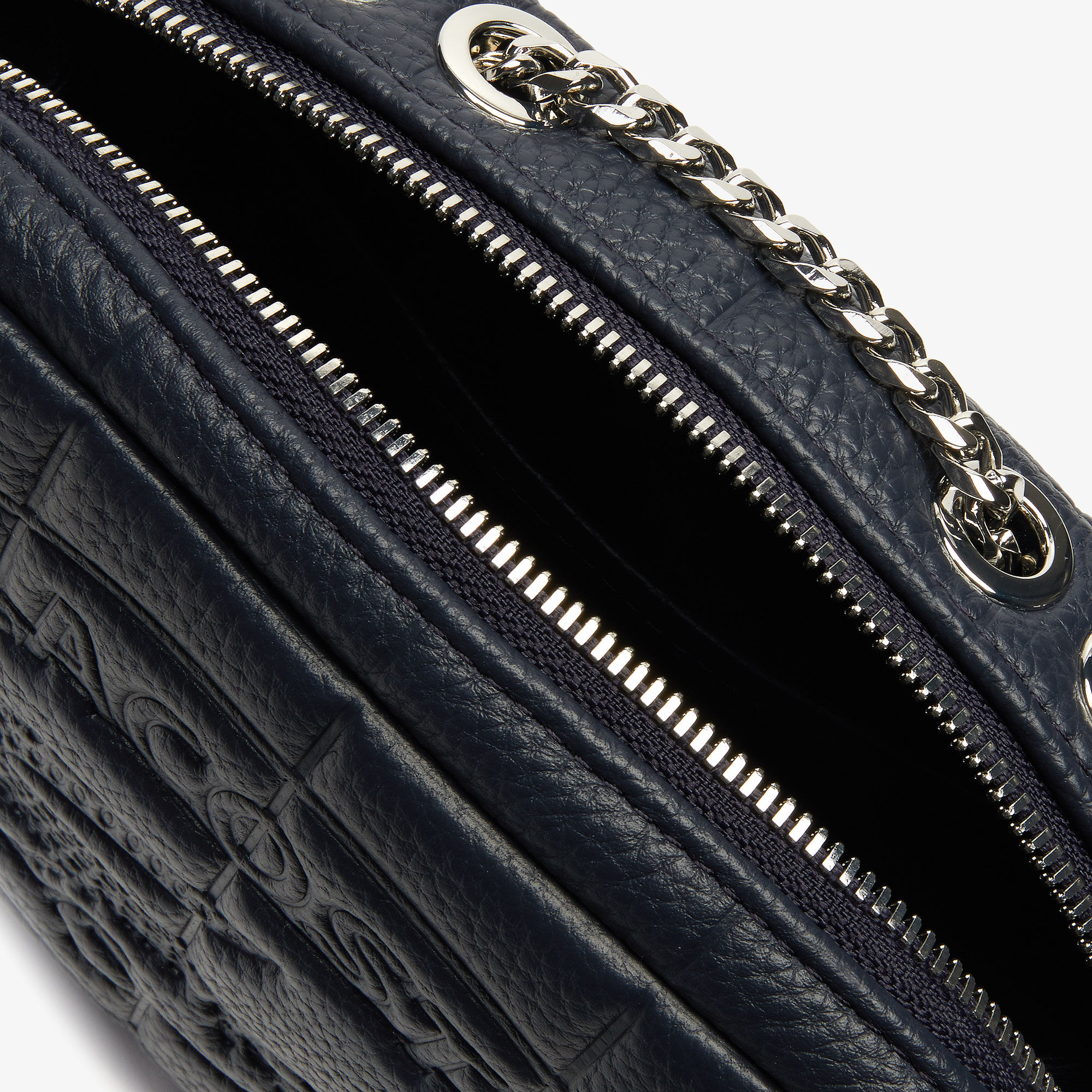حقيبة كتف نسائية من مجموعة Croco Crew من الجلد المبطن بسحاب