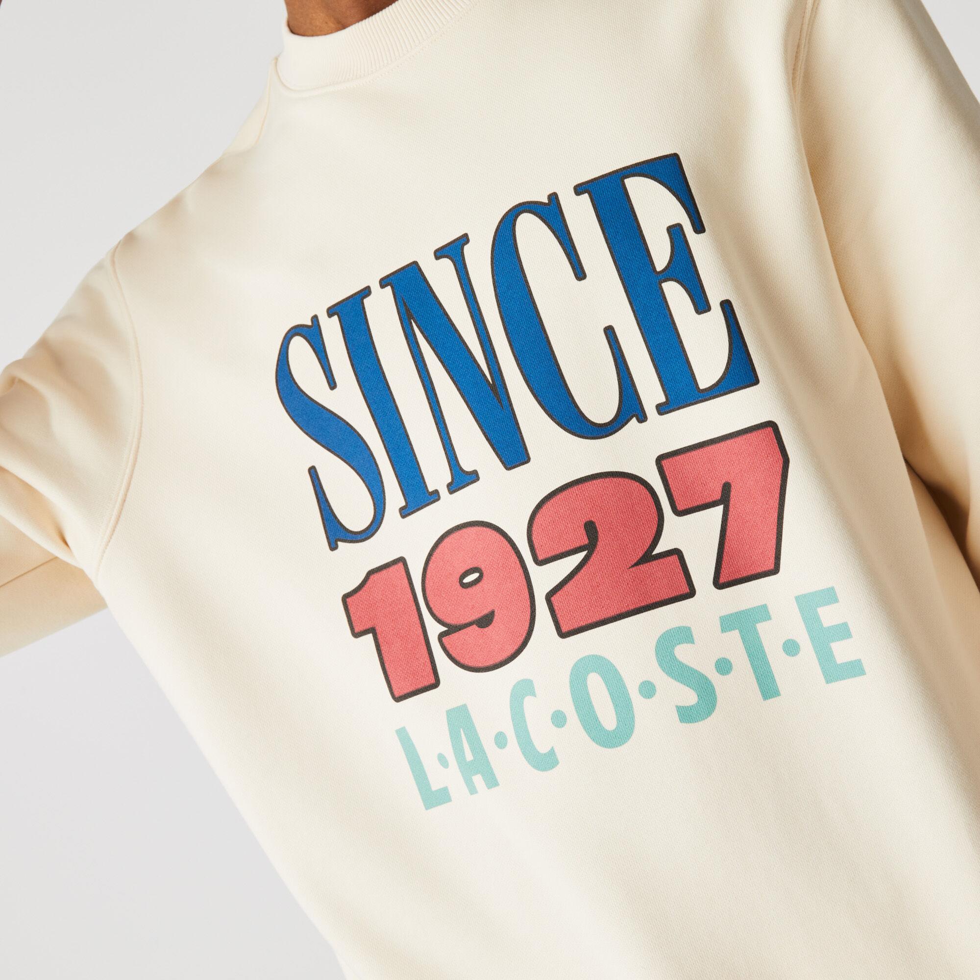 Unisex Lacoste LIVE Print Cotton Fleece Sweatshirt