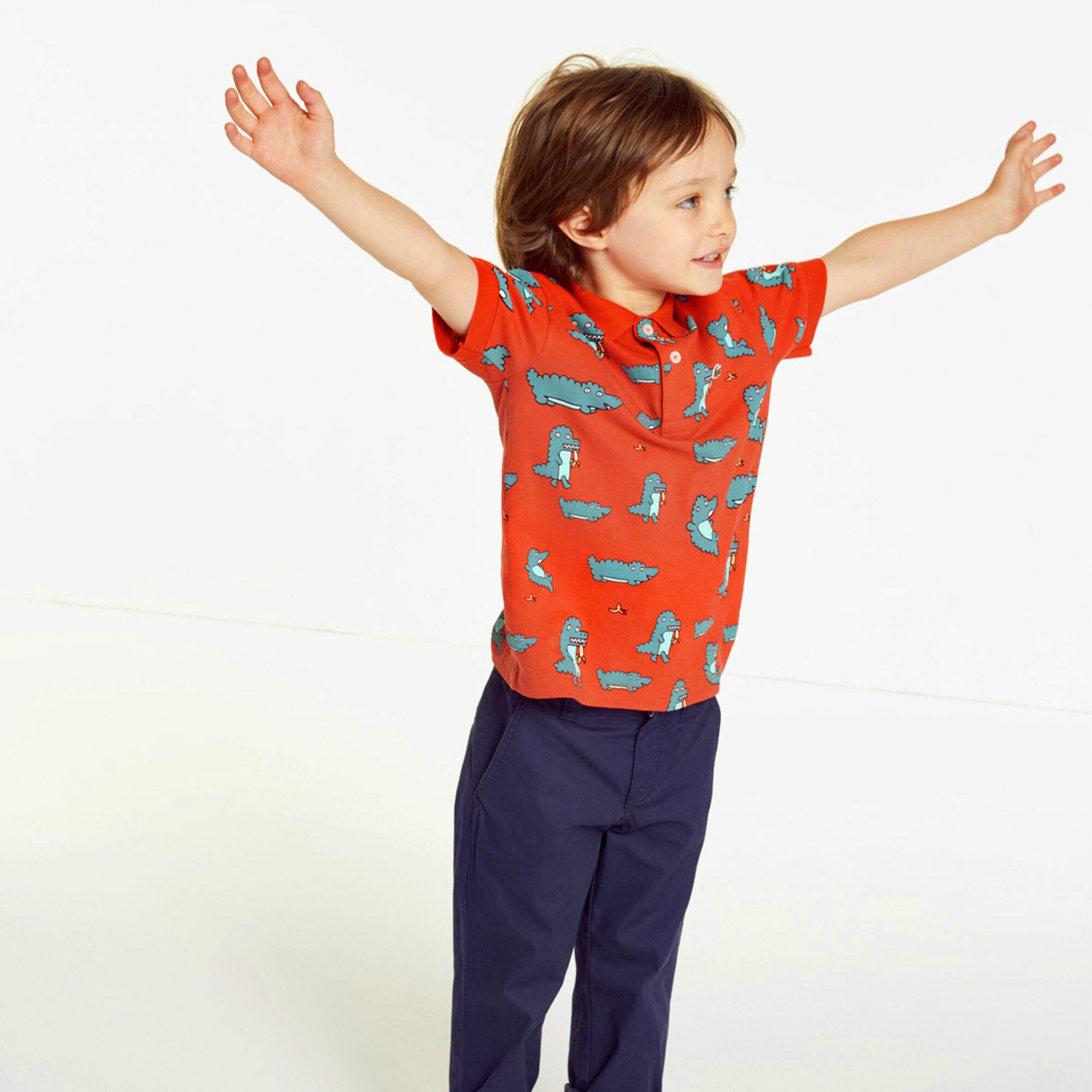 Boys' Lacoste Print Mini Piqué Polo Shirt