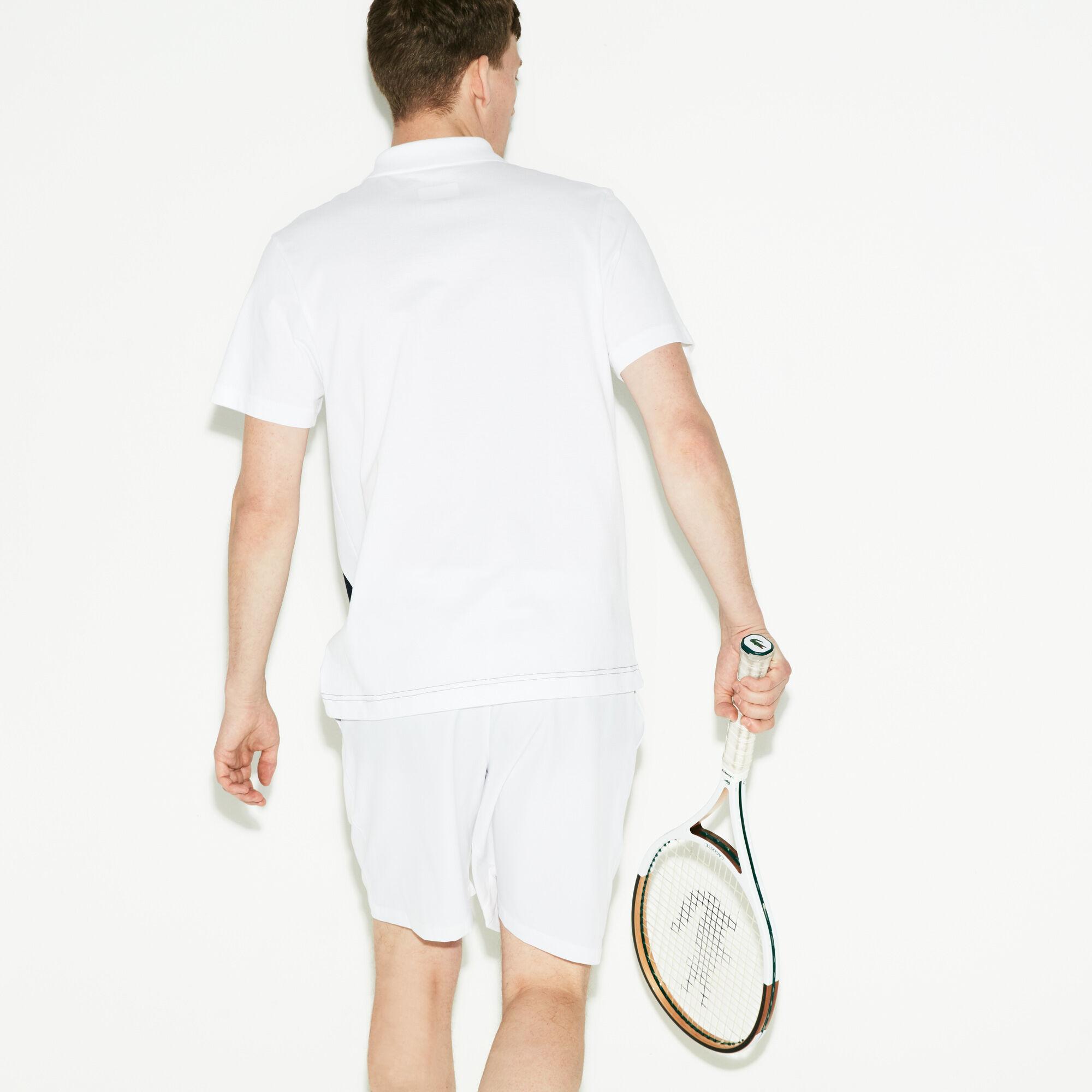قميص تنس بولو للرجال من قطن شديد الخفة وألوان متعددة من مجموعة Lacoste SPORT