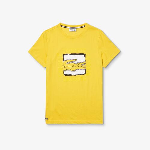 قميص تي-شيرت للرجال بطبعة ثلاثية الأبعاد من مجموعة Lacoste Sport