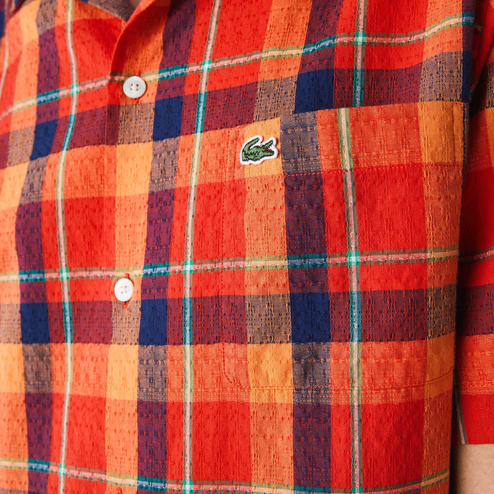 قميص قطن كاروهات للرجال قصة هاواي