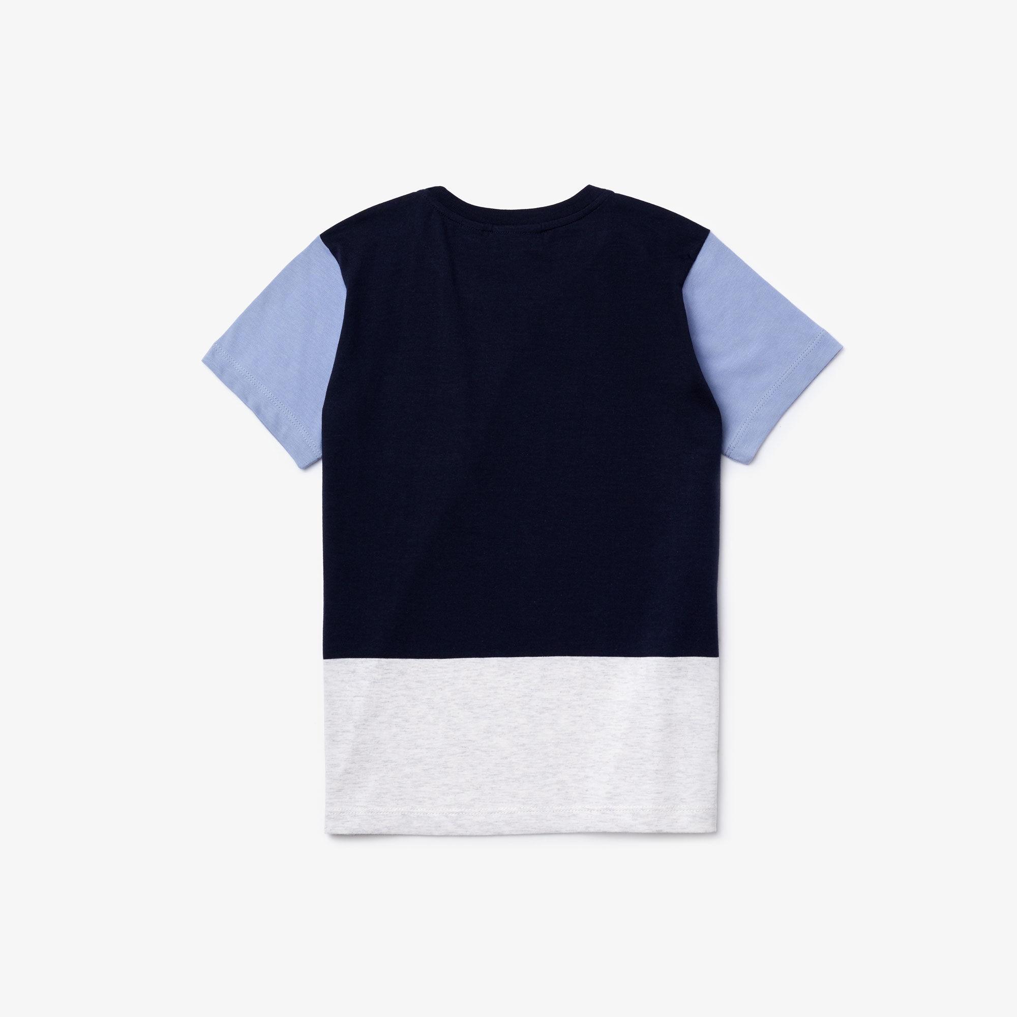 قميص تي شيرت للصبيان من القطن بألوان متعددة