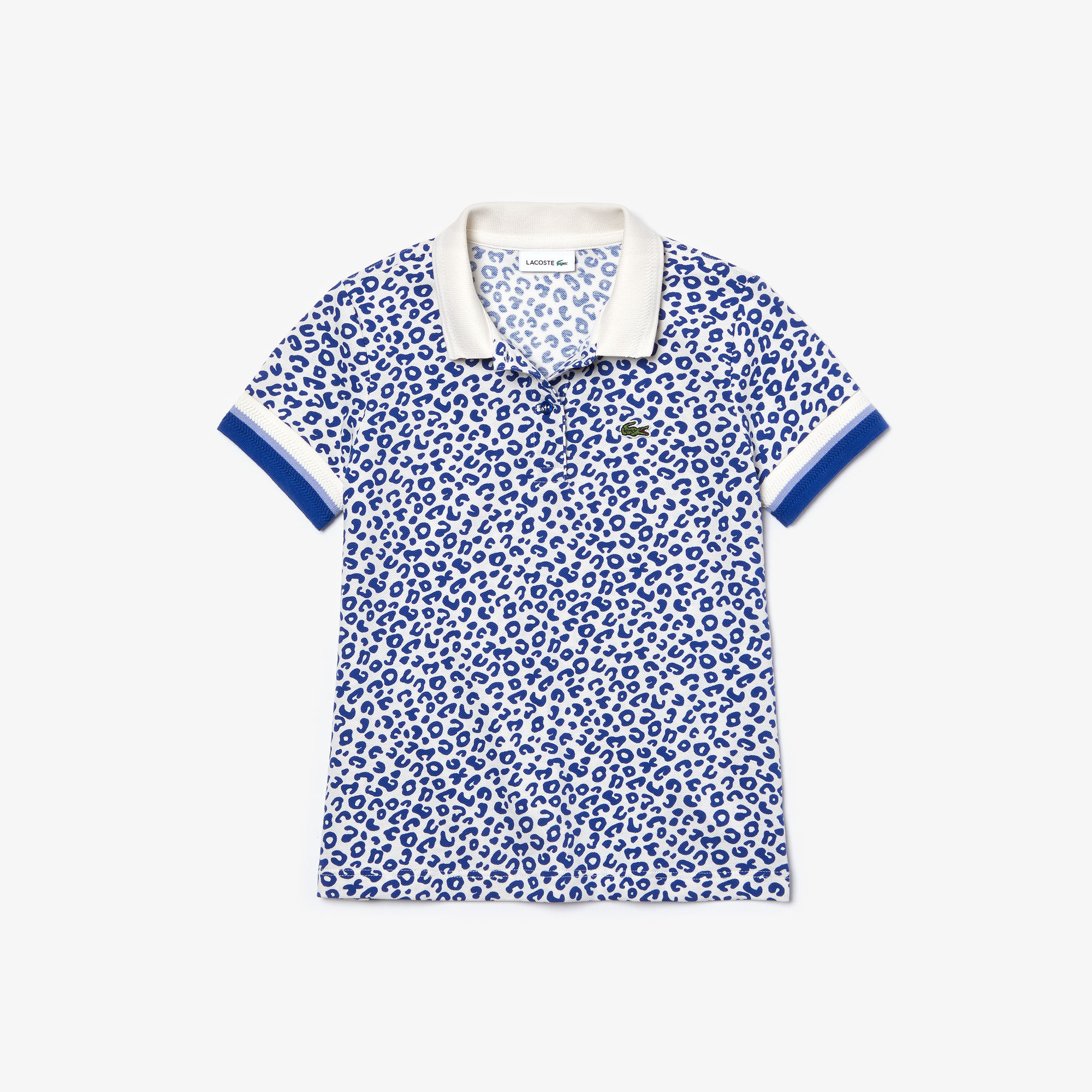 Girl's Leopard Print Lacoste Polo Shirt