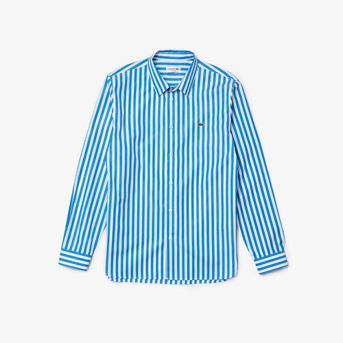 قميص بوبلين مخطط بقصة عادية للرجال