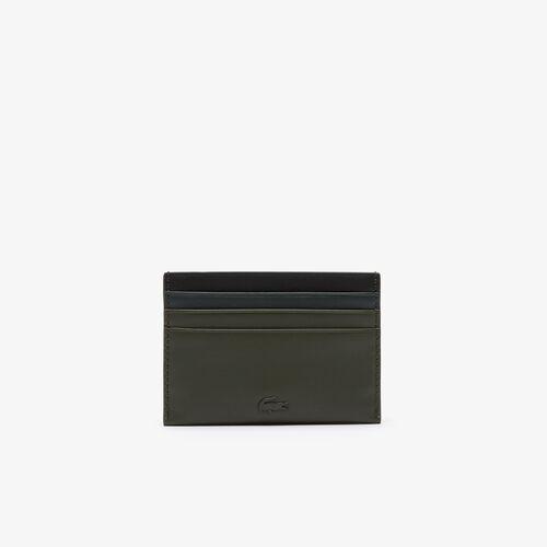 حافظة بطاقات الائتمان من الجلد الناعم بكتل لونية مجموعة Fitzgerald للرجال