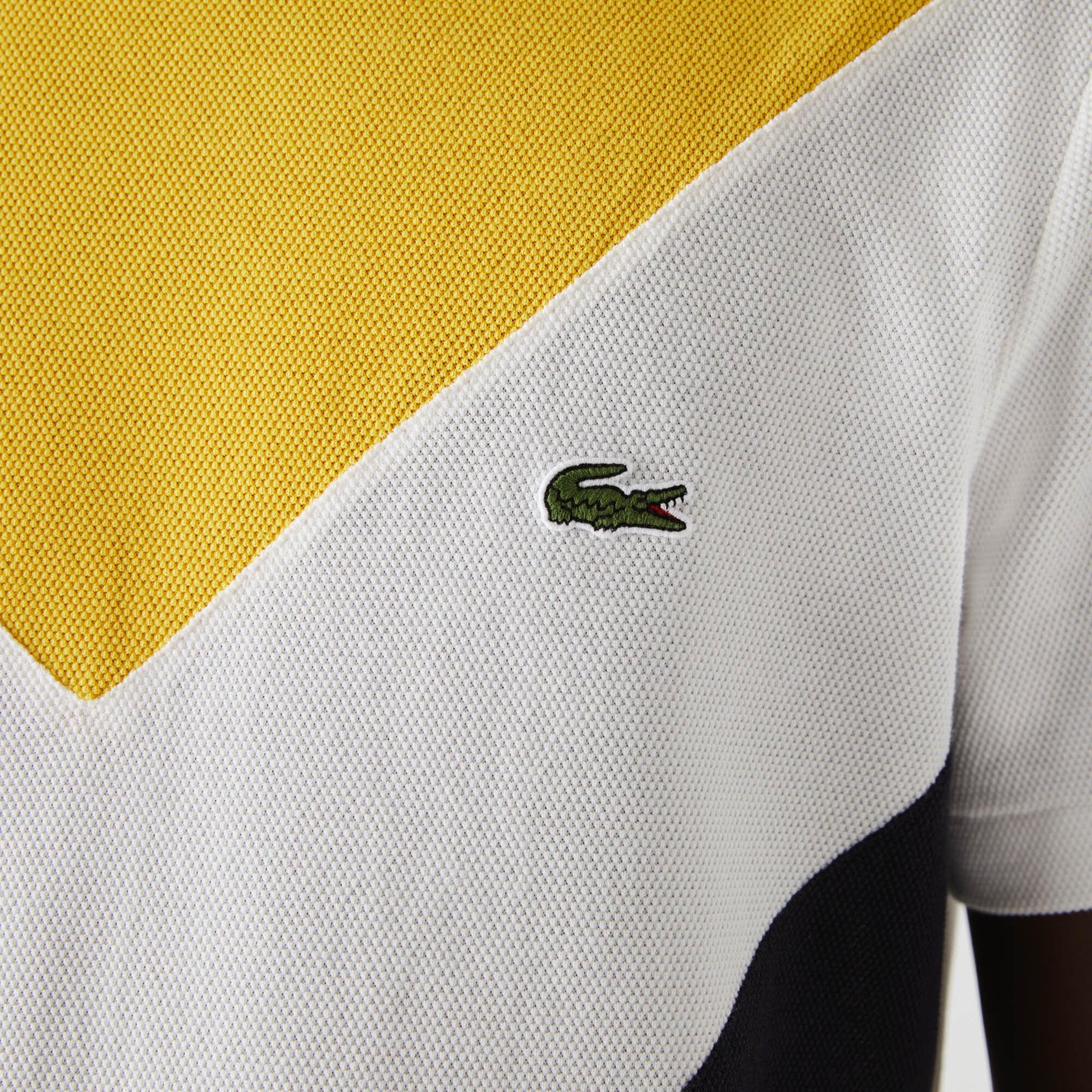 Men's Crew Neck Colourblock Cotton Piqué Blend T-shirt