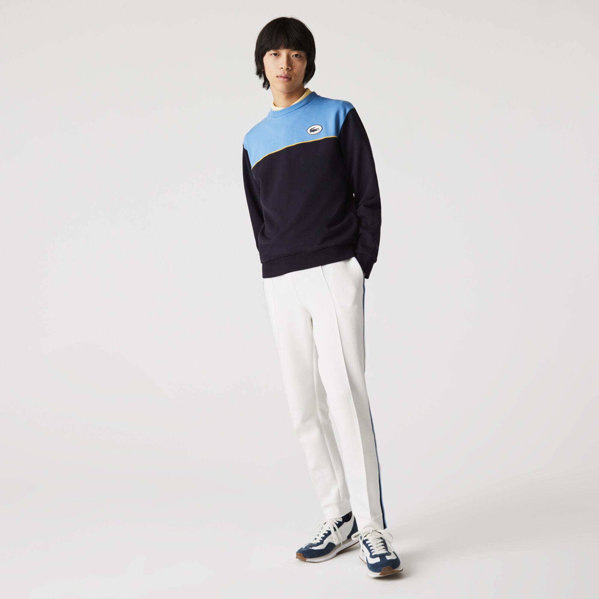 Men's Heritage Badge Colorblock Cotton Fleece Sweatshirt