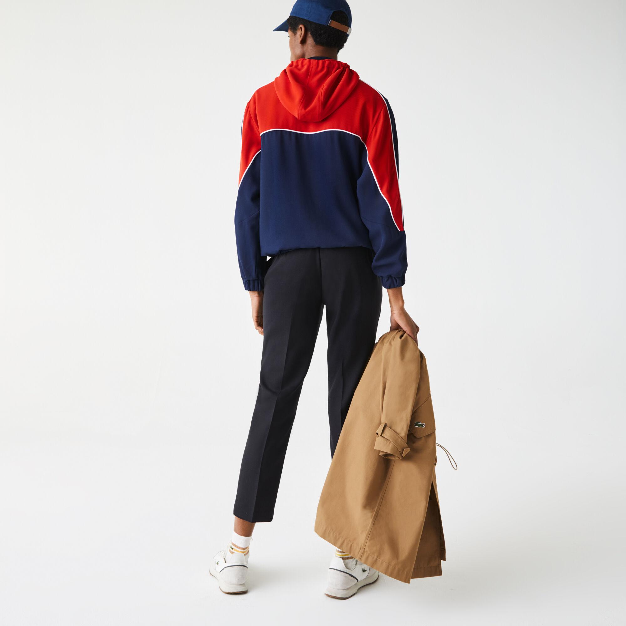Women's Hooded Colorblock Zip Sweatshirt