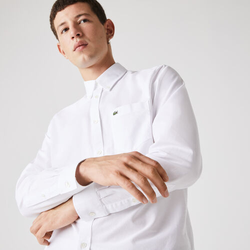 قميص قطن أكسفورد بقصة عادية للرجال